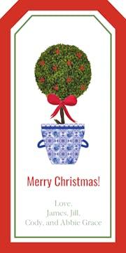 Holiday Topiary Hanging Gift Tag
