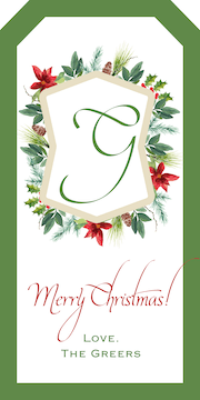 Foliage Crest Hanging Gift Tag