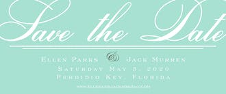 Scripted Save the Date Flat Invitation
