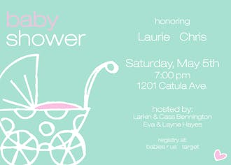 Polka Dot Buggy Invitation