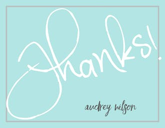 Big Thanks (White & Blue) Flat Note