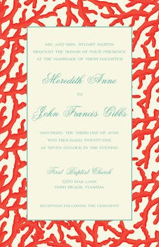 Coral Reef Invitation