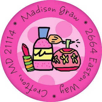 Nail Polish Round Sticker