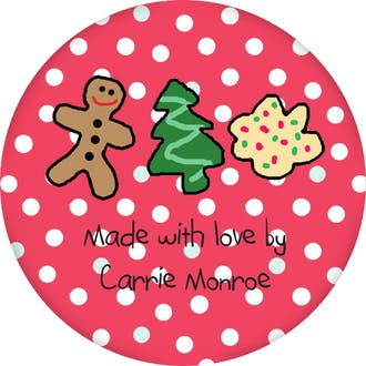 Holiday Cookies Round Sticker