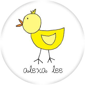 Little Chick Round Sticker