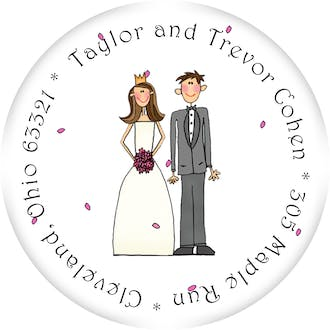 Personalized Character Cake Topper Round Sticker