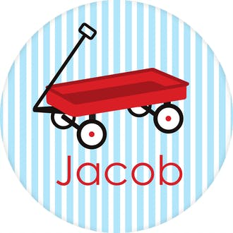 Little Red Wagon Water-resistant Label