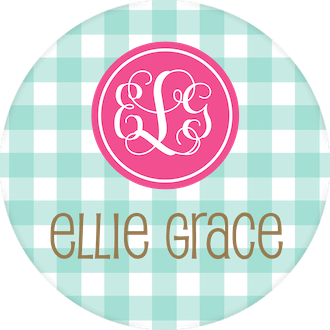 Mint Gingham Water-resistant Label