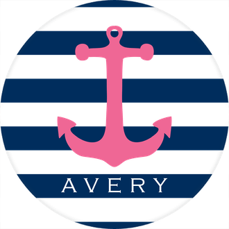 Pink Anchor Water-resistant Label