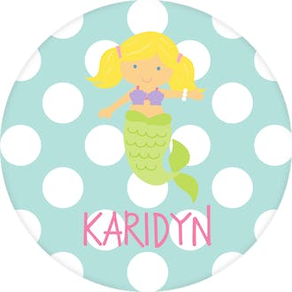 Mermaid Dots Water-resistant Label