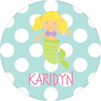 Mermaid Dots Water-resistant Label