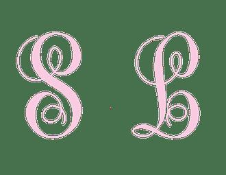 Large Pink Monogram Folded Note