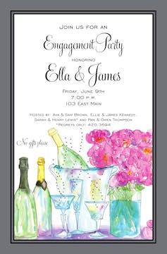 Champagne Peonies Invitation