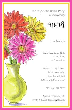 Gerber Daisies Invitation