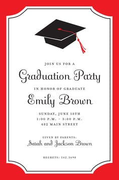 Red Grad Invitation