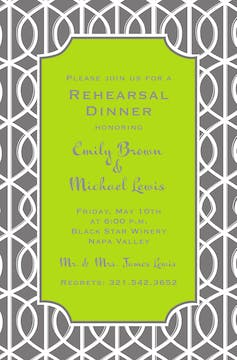 Slate Trellis Invitation