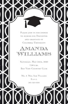Trellis Grad Invitation