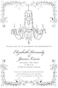 Vintage Chandelier Invitation