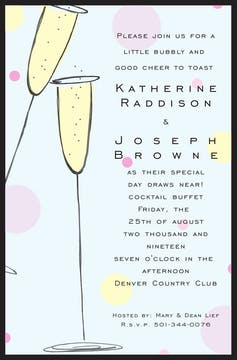 Champagne Madness Invitation
