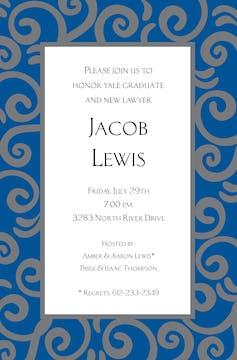 Stir Blue Invitation