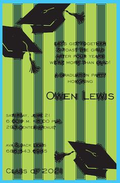 Preppy Grad Invitation