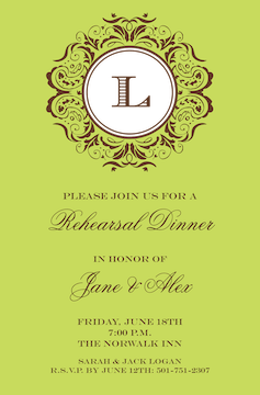 Lime Mirror Invitation