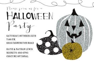 Glitter Pumpkins Invitation