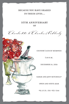 Champagne Bucket Invitation