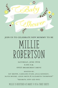 Banner for Baby Invitation