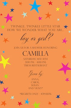 Twinkle Star Invitation