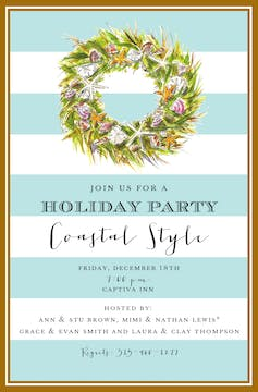 Coastal Wreath Invitation