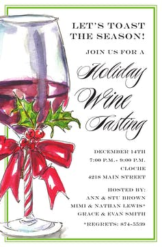 Holiday Wine Invitation