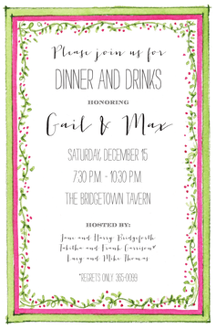 Pepper Berry Border Invitation
