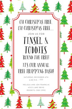 Christmas Tree Pattern Invitation