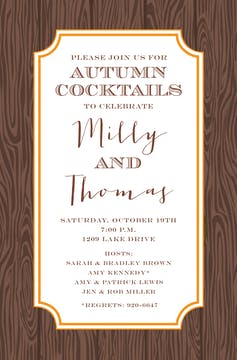 Wood Grain Invitation