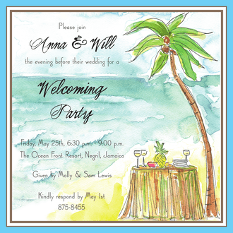 Beach Reception Invitation