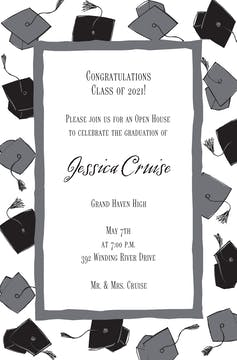 Grad Caps Invitation