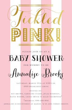 Tickled Pink Invitation