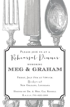 Perfect Place Setting Invitation
