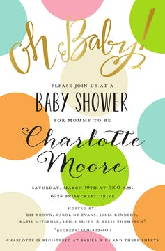 Oh Baby! Invitation