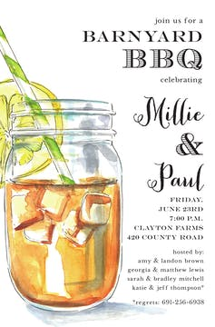 Iced Tea Jar Invitation