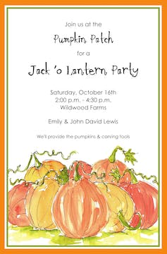 Pumpkin Pile Invitation