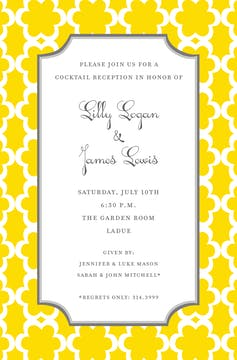 Golden Bloom Invitation