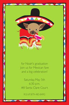 Party Chihuahua Invitation