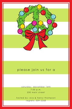 Wreath Peace Invitation