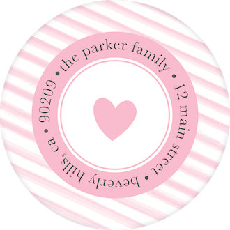 Baby Monogram Round Return Address Sticker
