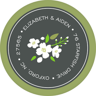 Enchanted Floral Round Return Address Sticker