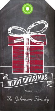 Gift Chalkboard Hanging Gift Tag