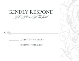 Vintage Scrollwork Reply Card