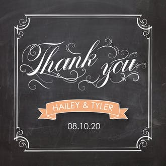 Swirly Chalkboard Gift Sticker
